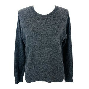 Autumn Cashmere Sweater Back Zip Elbow Patch Small